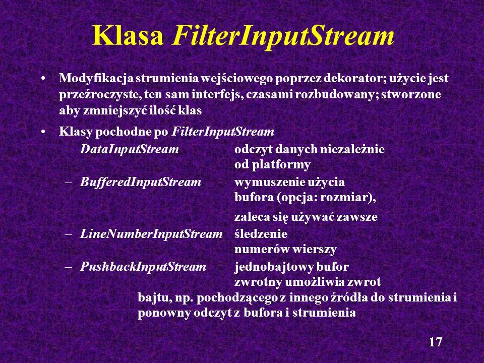 Klasa FilterInputStream