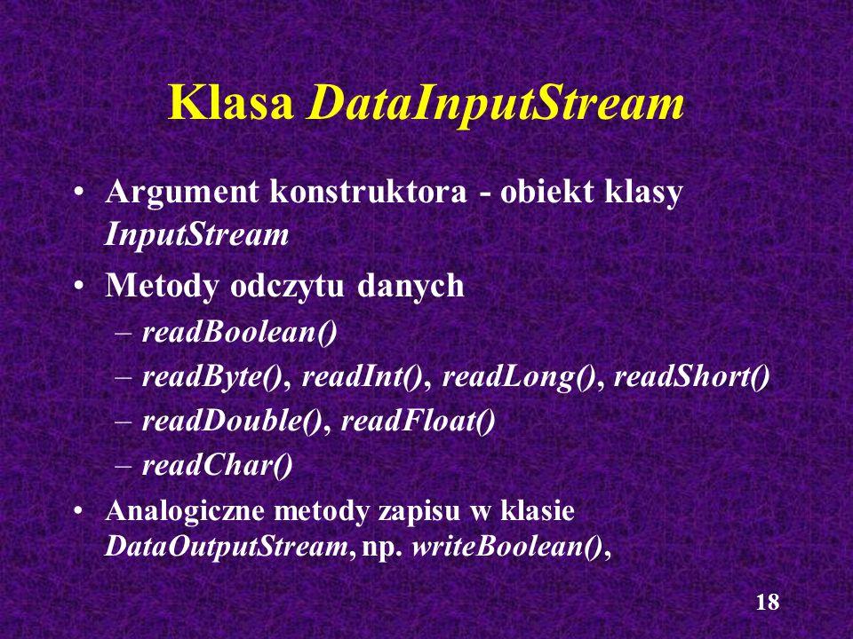 Klasa DataInputStream
