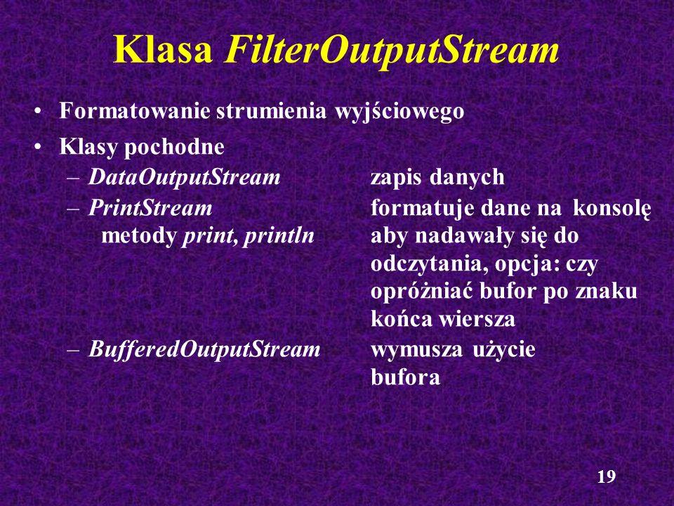 Klasa FilterOutputStream