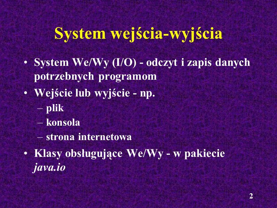 System wejścia-wyjścia