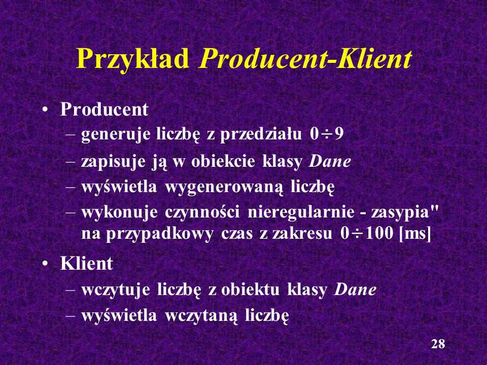 Przykład Producent-Klient