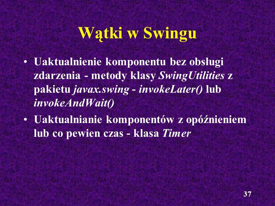 Wątki w Swingu
