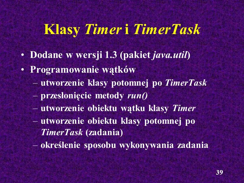 Klasy Timer i TimerTask