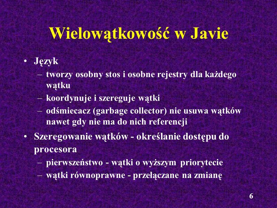 Wielowątkowość w Javie