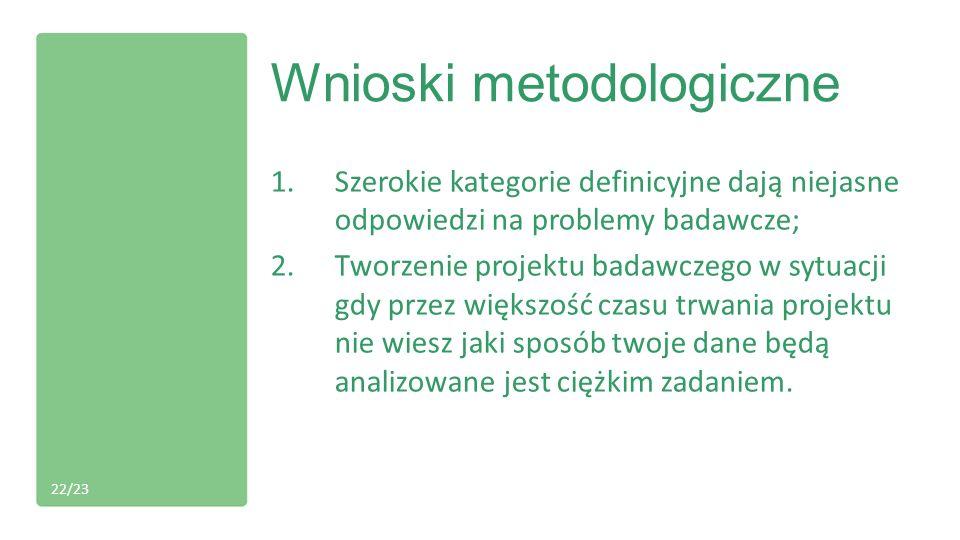 Wnioski metodologiczne