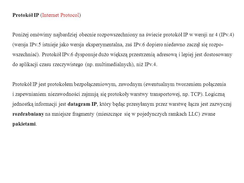 Protokół IP (Internet Protocol)