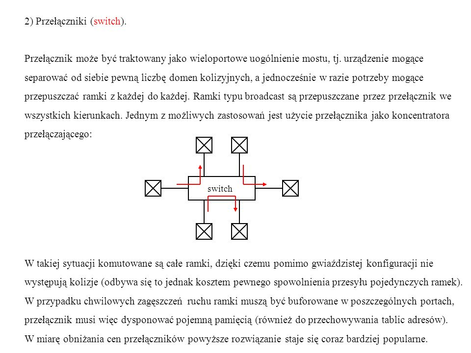 2) Przełączniki (switch).