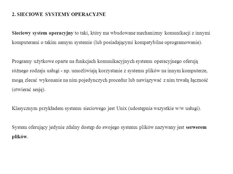 2. SIECIOWE SYSTEMY OPERACYJNE