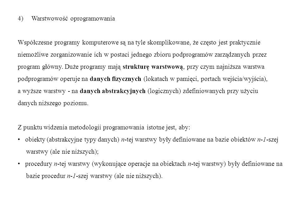 4) Warstwowość oprogramowania