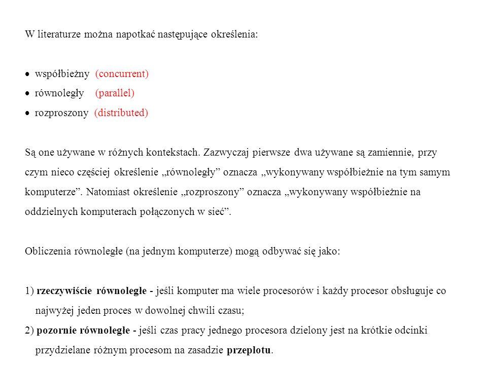 W literaturze można napotkać następujące określenia: