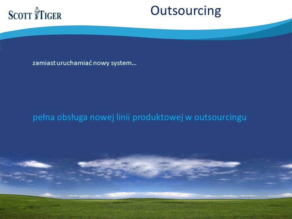 Outsourcing pełna obsługa nowej linii produktowej w outsourcingu