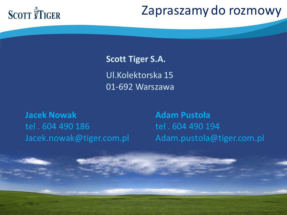 Zapraszamy do rozmowy Scott Tiger S.A. Ul.Kolektorska 15