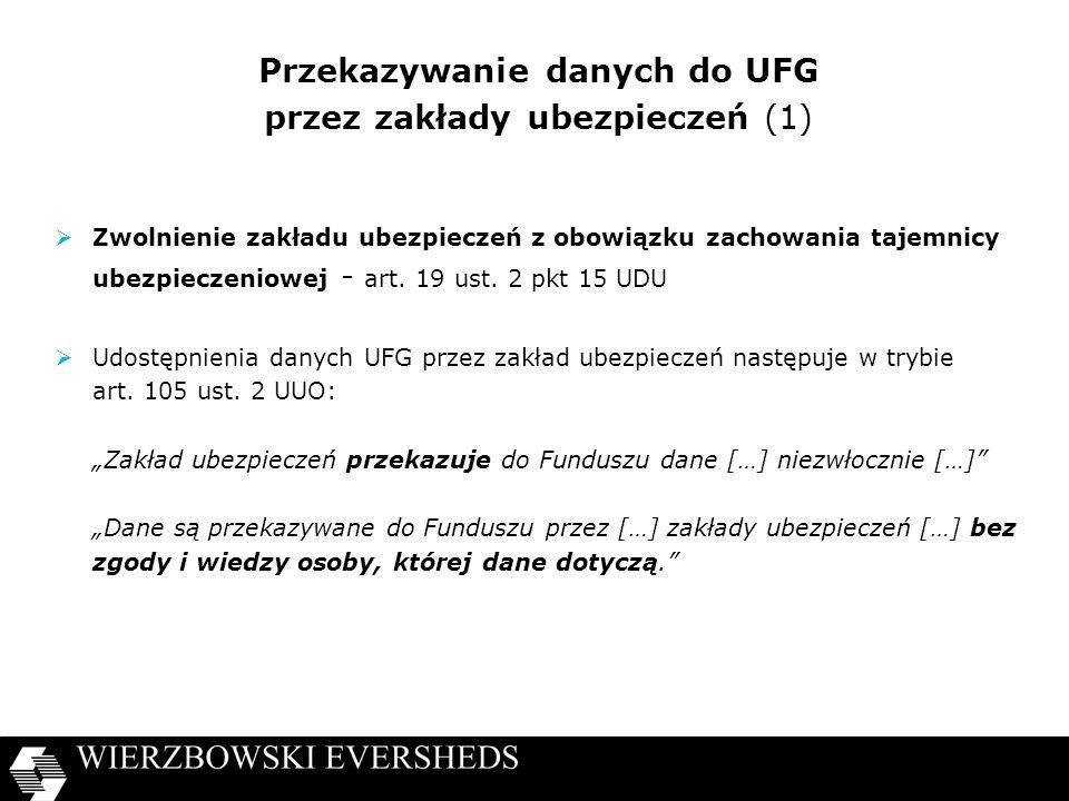 Przekazywanie danych do UFG przez zakłady ubezpieczeń (1)