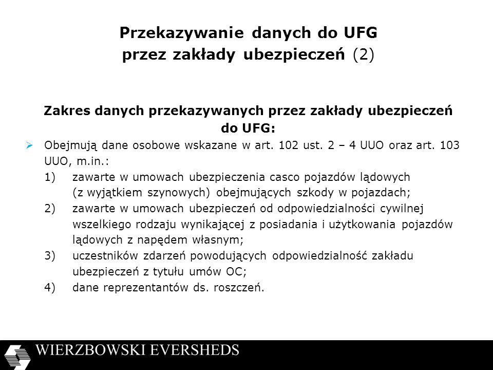 Przekazywanie danych do UFG przez zakłady ubezpieczeń (2)