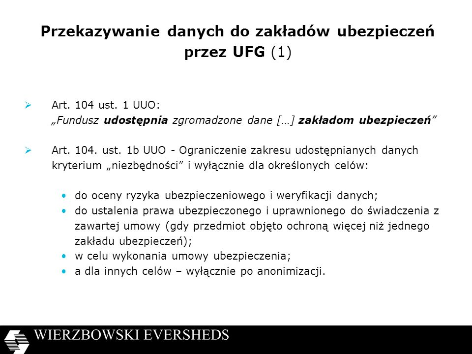 Przekazywanie danych do zakładów ubezpieczeń przez UFG (1)