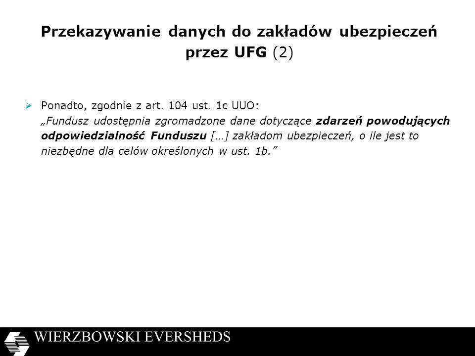 Przekazywanie danych do zakładów ubezpieczeń przez UFG (2)