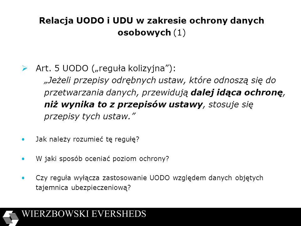 Relacja UODO i UDU w zakresie ochrony danych osobowych (1)