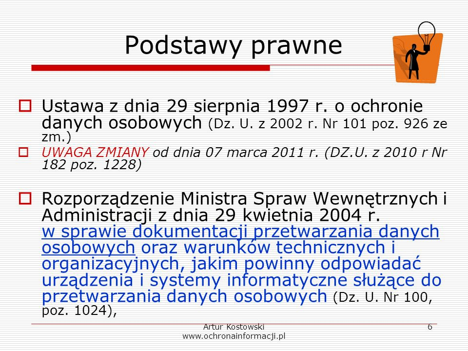 Artur Kostowski www.ochronainformacji.pl