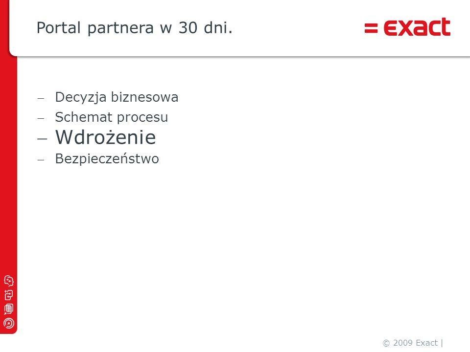 Wdrożenie Portal partnera w 30 dni. Decyzja biznesowa Schemat procesu