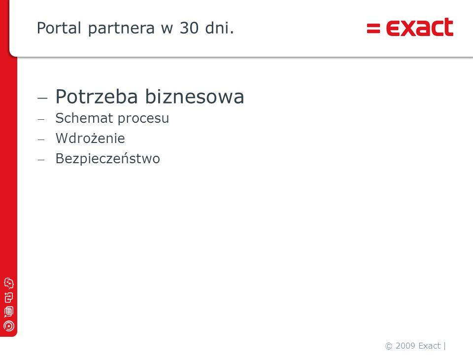 Potrzeba biznesowa Portal partnera w 30 dni. Schemat procesu Wdrożenie
