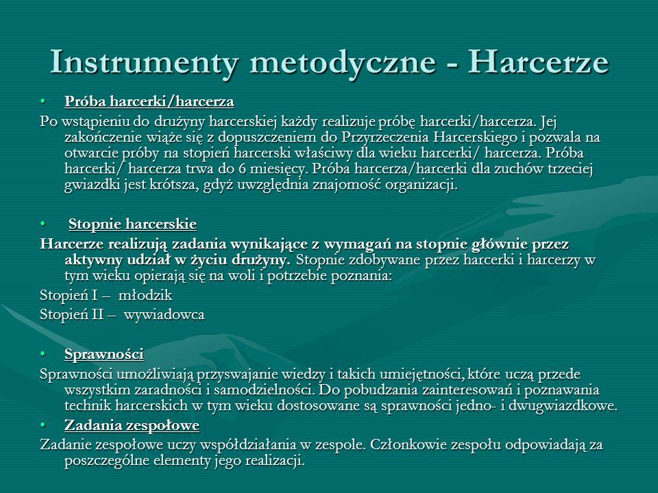 Instrumenty metodyczne - Harcerze