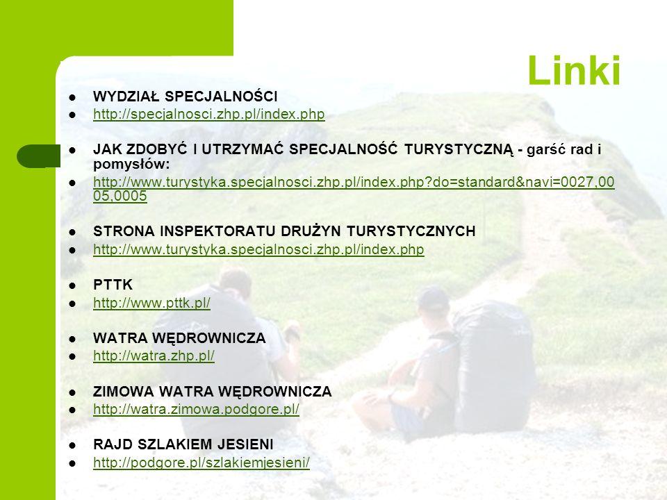 Linki WYDZIAŁ SPECJALNOŚCI http://specjalnosci.zhp.pl/index.php
