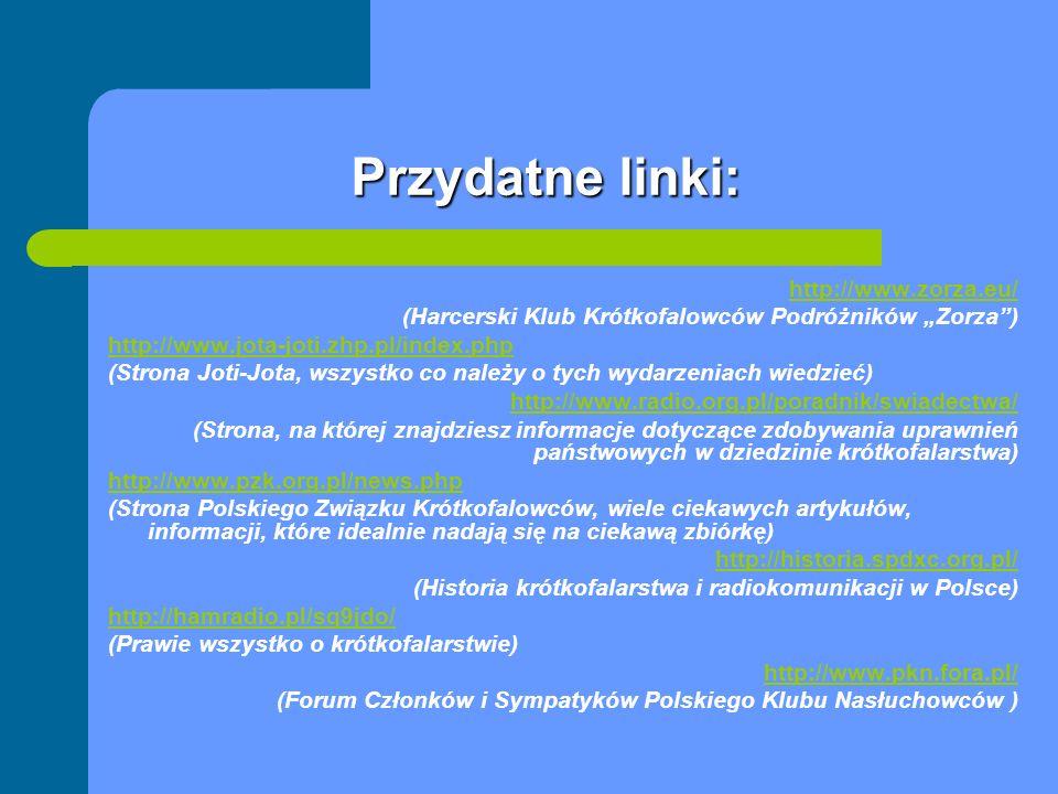 Przydatne linki: http://www.zorza.eu/