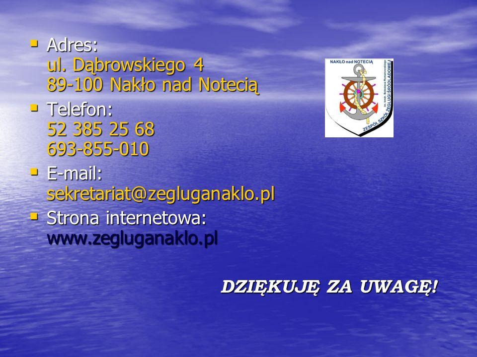 Adres: ul. Dąbrowskiego 4 89-100 Nakło nad Notecią