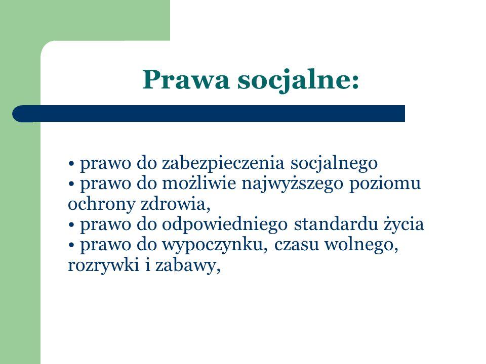 Prawa socjalne: