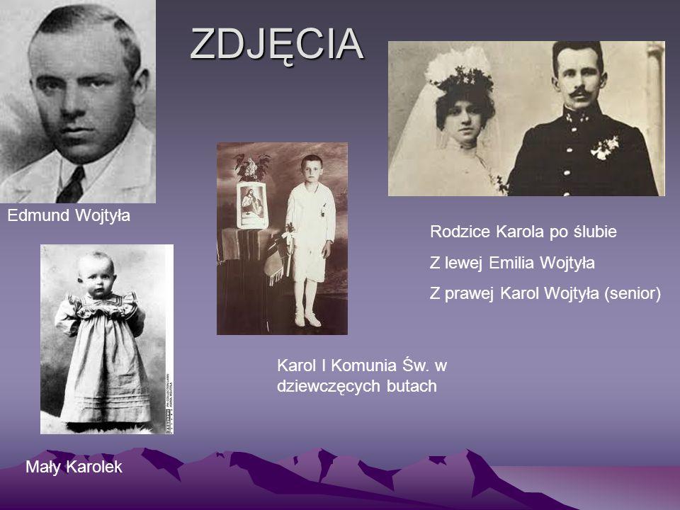 ZDJĘCIA Edmund Wojtyła Rodzice Karola po ślubie Z lewej Emilia Wojtyła