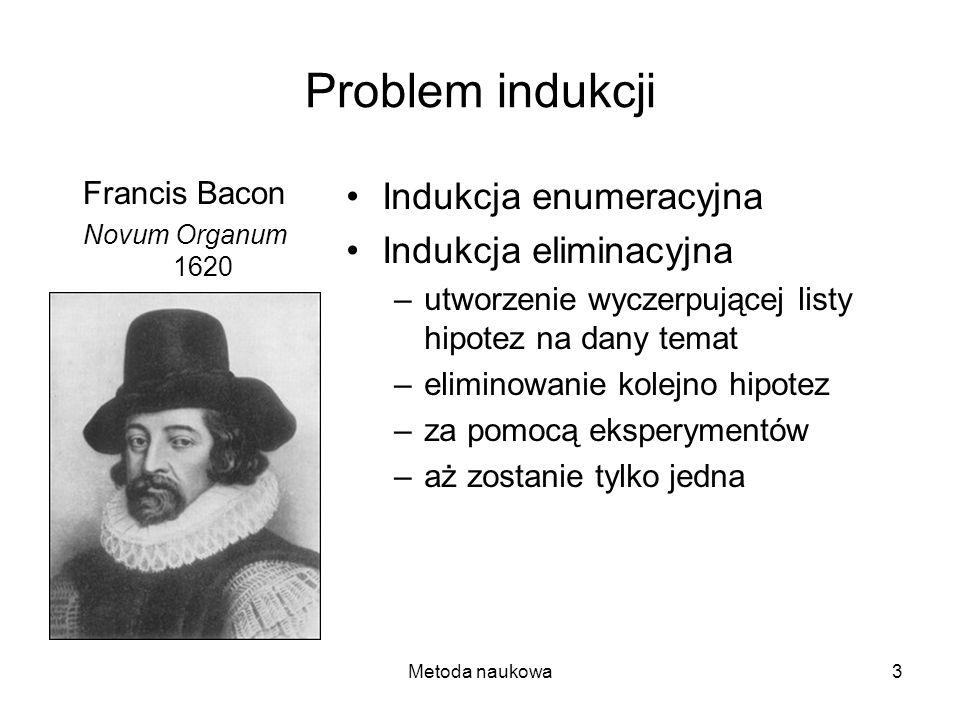 Problem indukcji Indukcja enumeracyjna Indukcja eliminacyjna