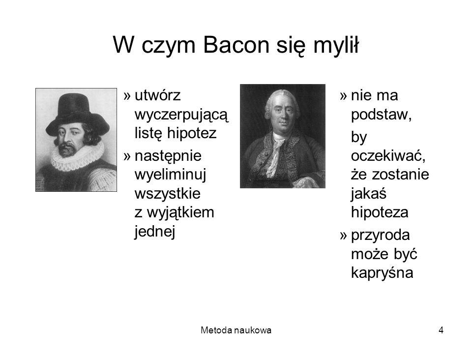 W czym Bacon się mylił utwórz wyczerpującą listę hipotez