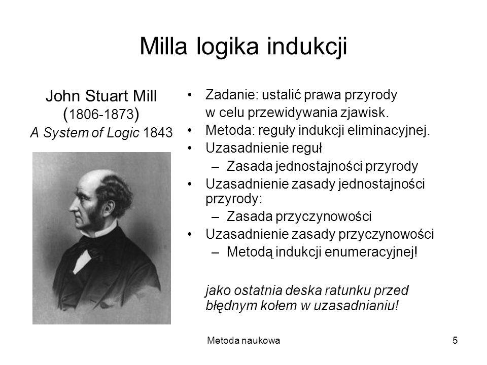 Milla logika indukcji John Stuart Mill (1806-1873)