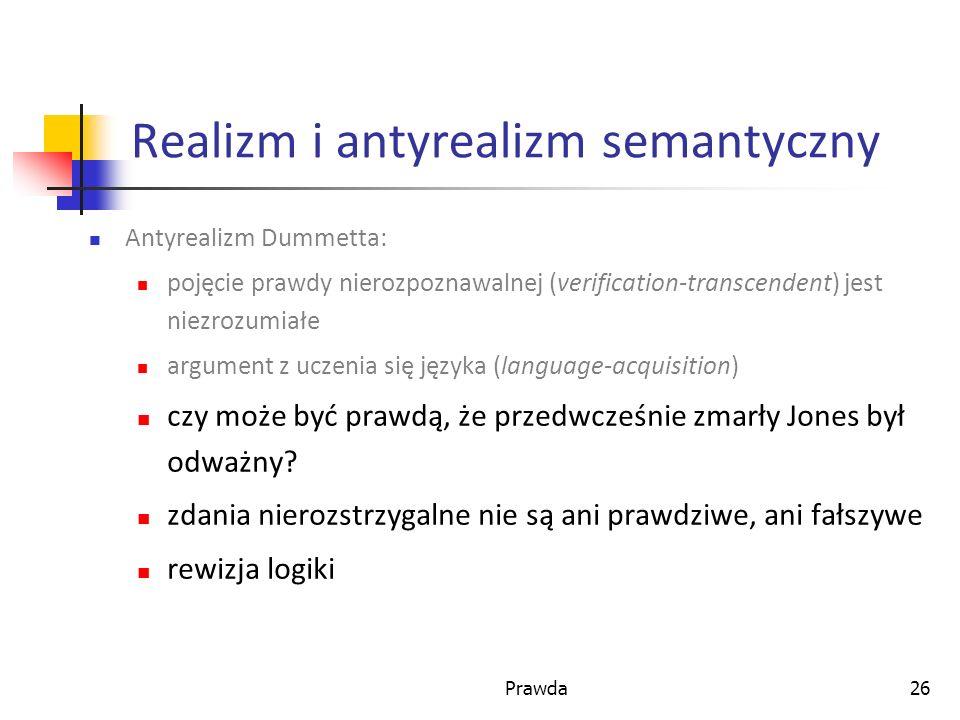 Realizm i antyrealizm semantyczny