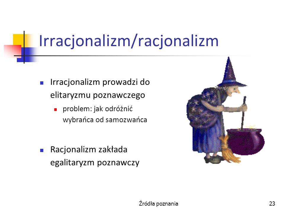 Irracjonalizm/racjonalizm