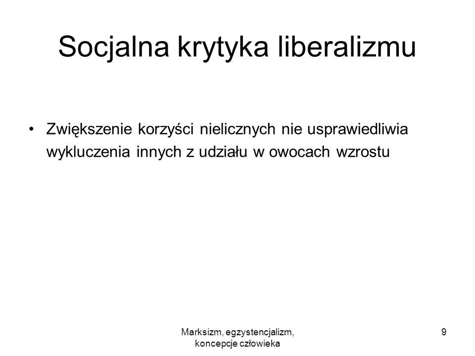 Socjalna krytyka liberalizmu