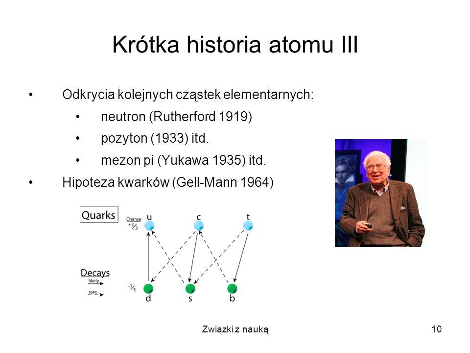 Krótka historia atomu III