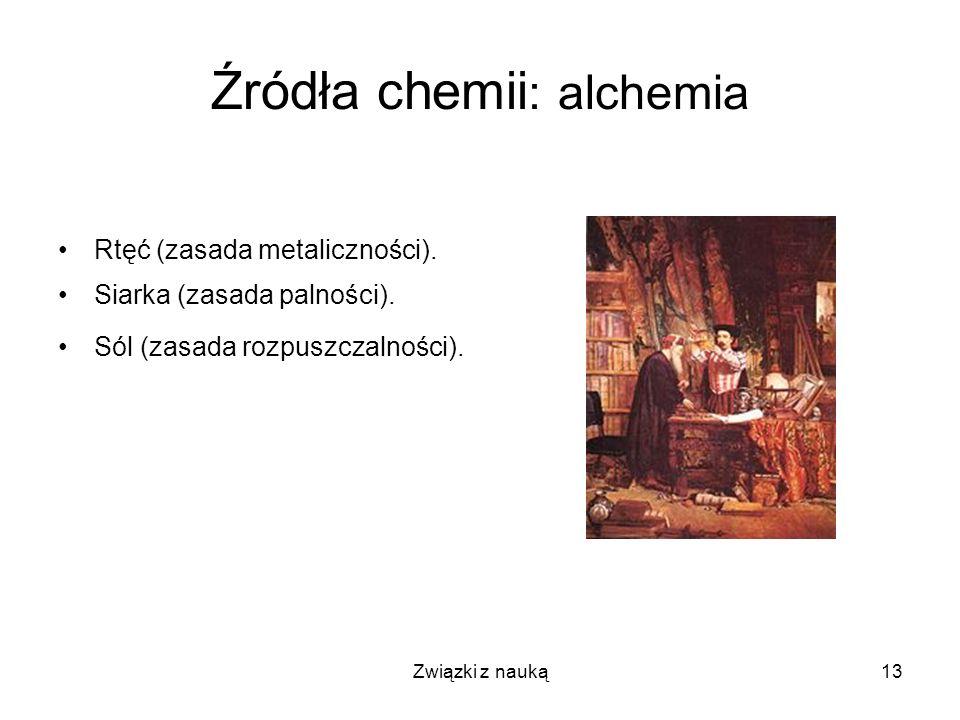 Źródła chemii: alchemia