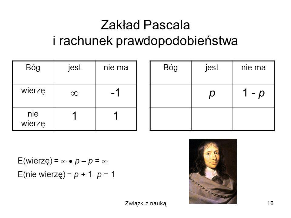 Zakład Pascala i rachunek prawdopodobieństwa