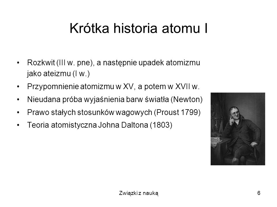 Krótka historia atomu I