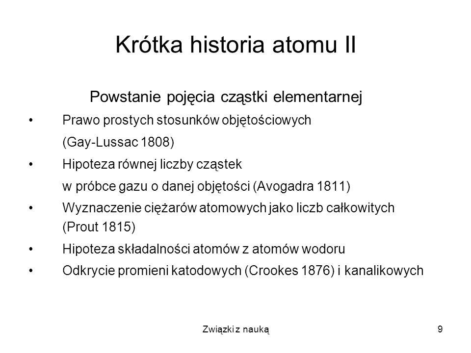 Krótka historia atomu II