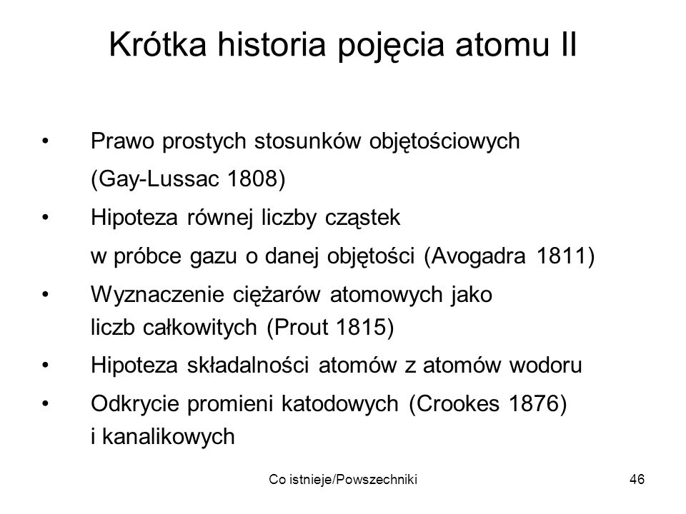Krótka historia pojęcia atomu II