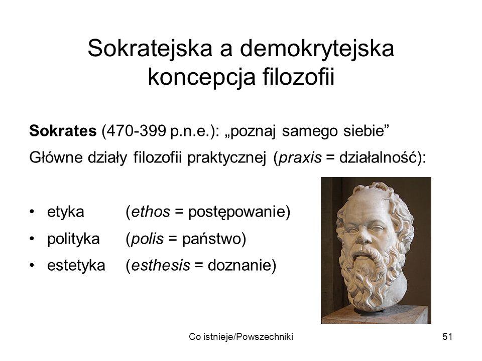 Sokratejska a demokrytejska koncepcja filozofii