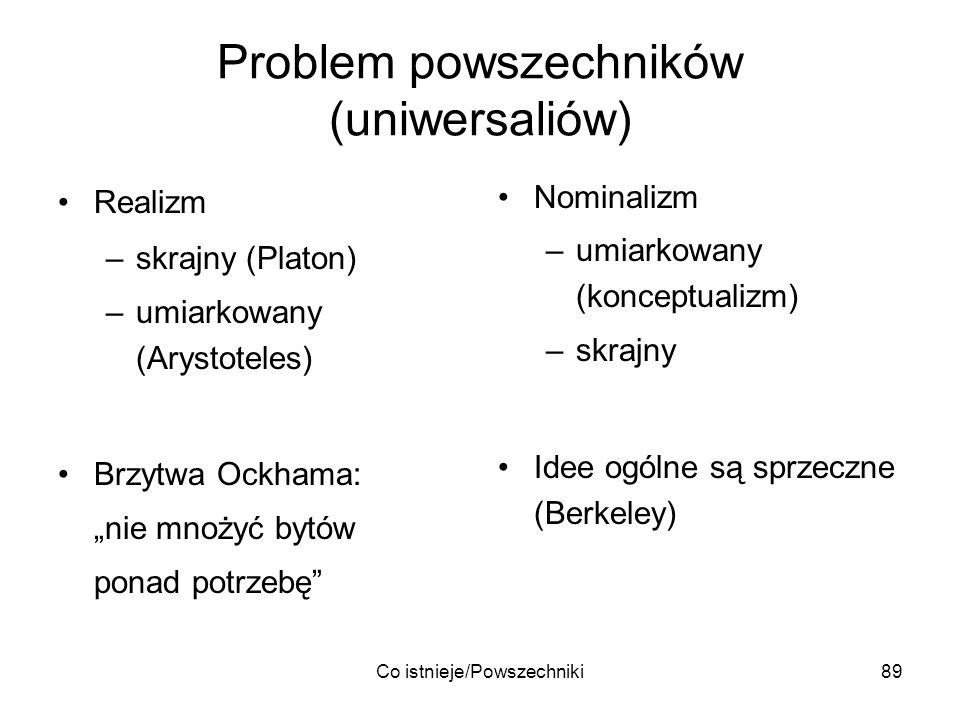 Problem powszechników (uniwersaliów)