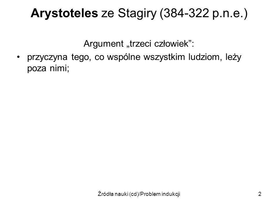 Arystoteles ze Stagiry (384-322 p.n.e.)