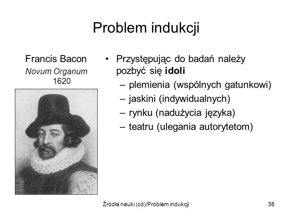 Źródła nauki (cd)/Problem indukcji