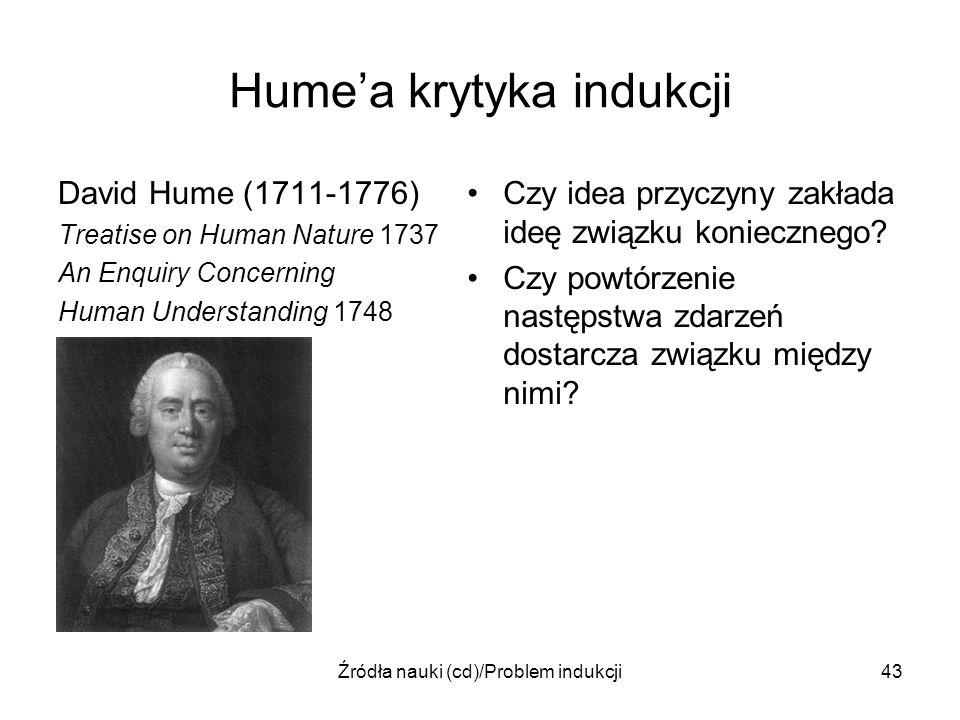 Hume'a krytyka indukcji