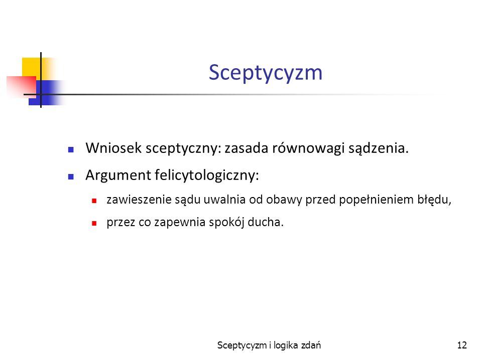 Sceptycyzm i logika zdań