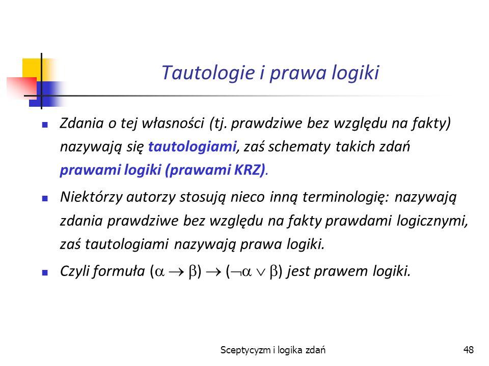 Tautologie i prawa logiki
