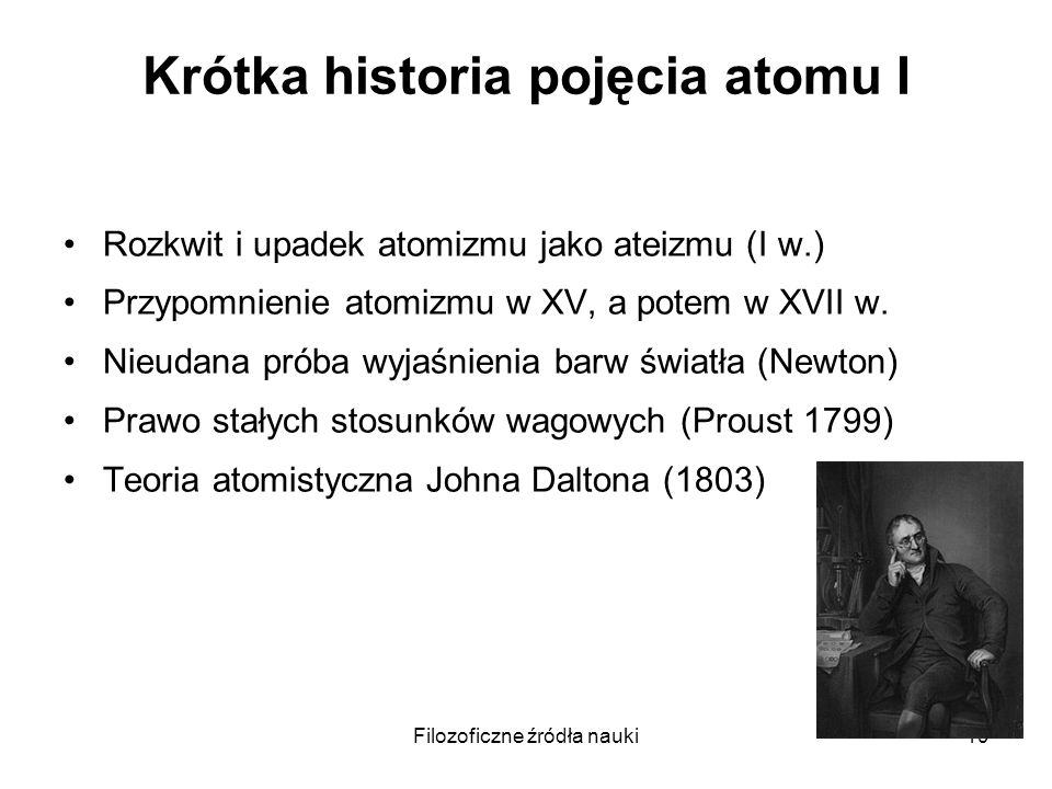 Krótka historia pojęcia atomu I